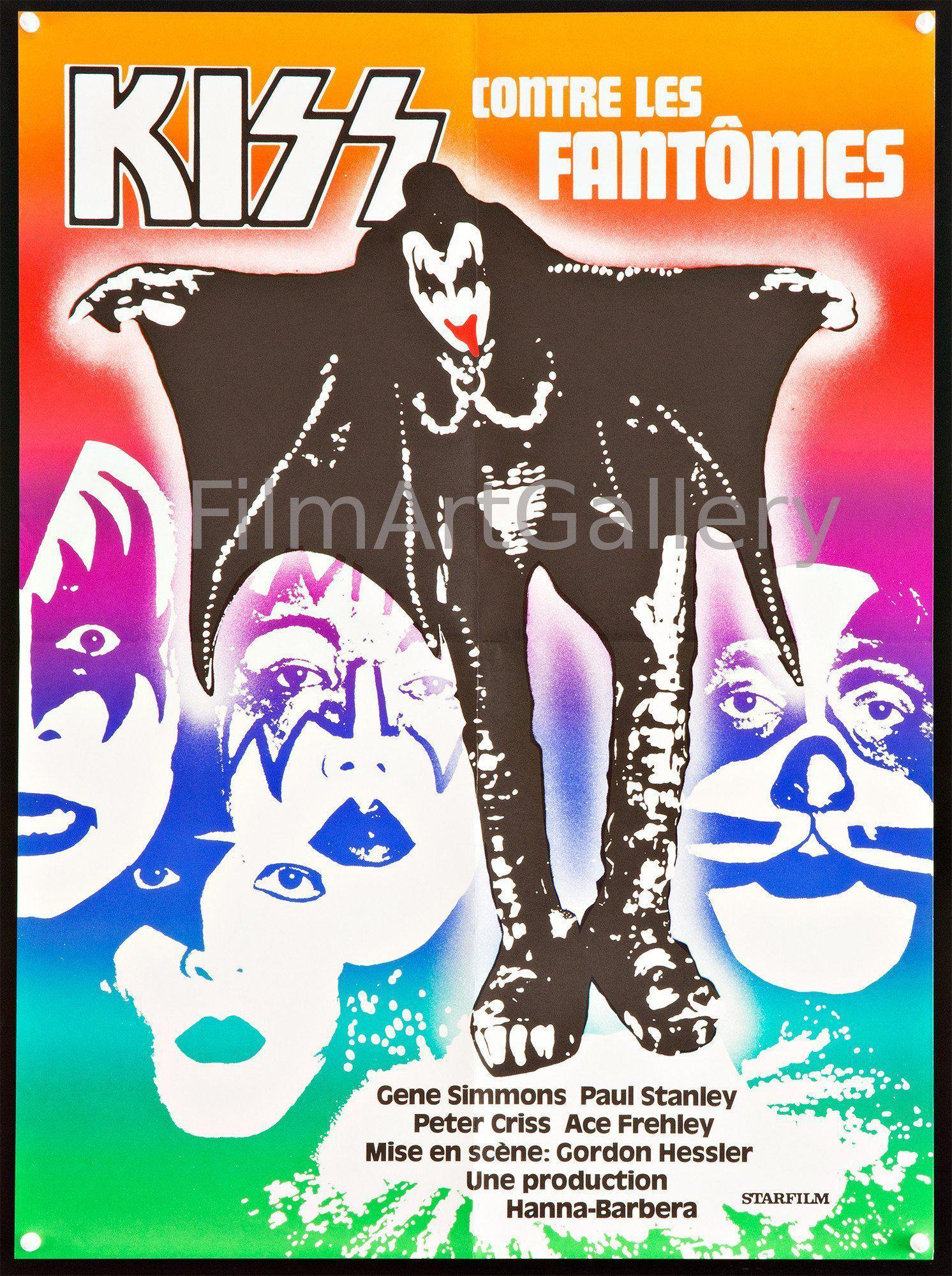 Kiss Attack of the Phantoms 20x27 Original Vintage Movie Poster