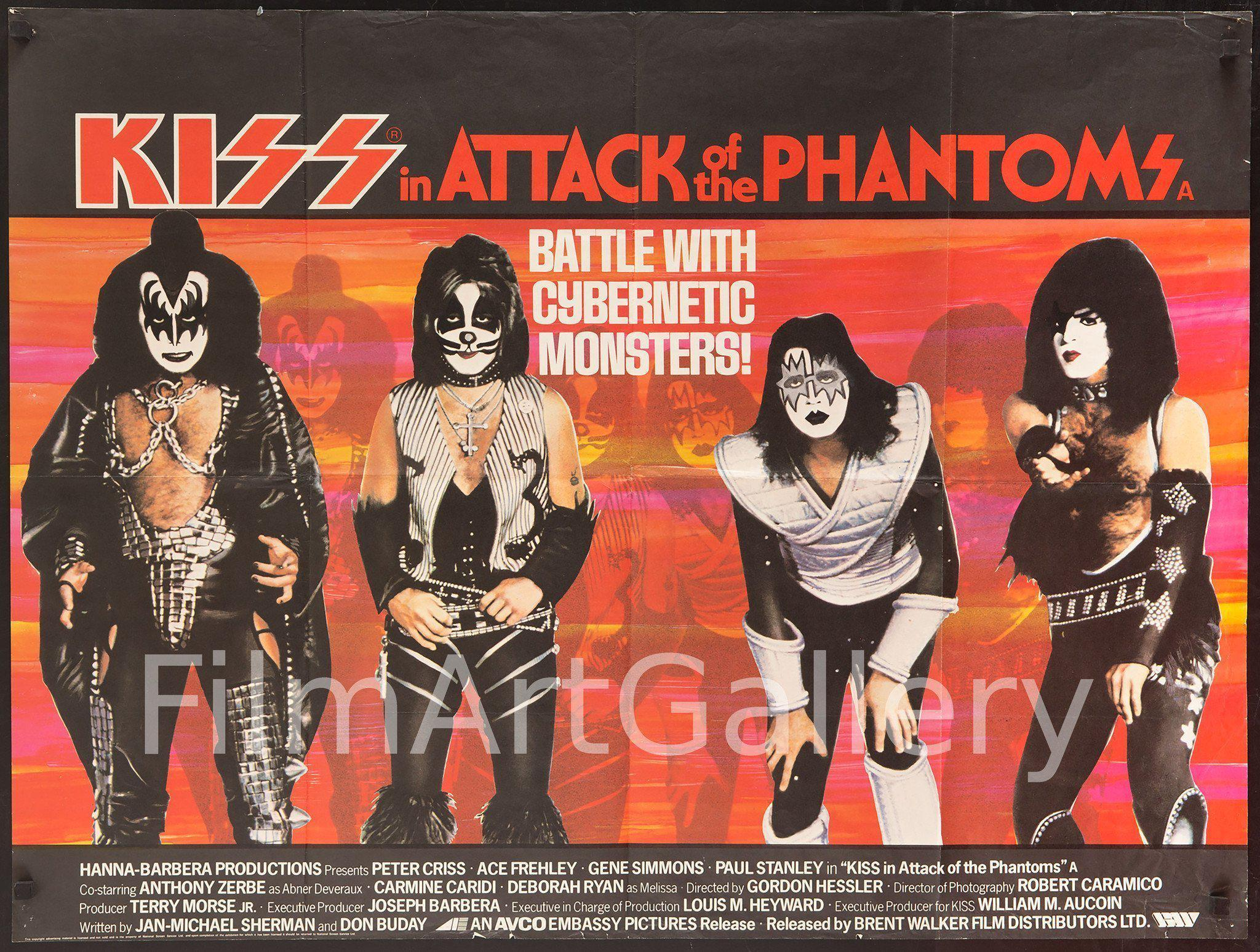 Kiss Attack of the Phantoms British Quad (30x40) Original Vintage Movie Poster