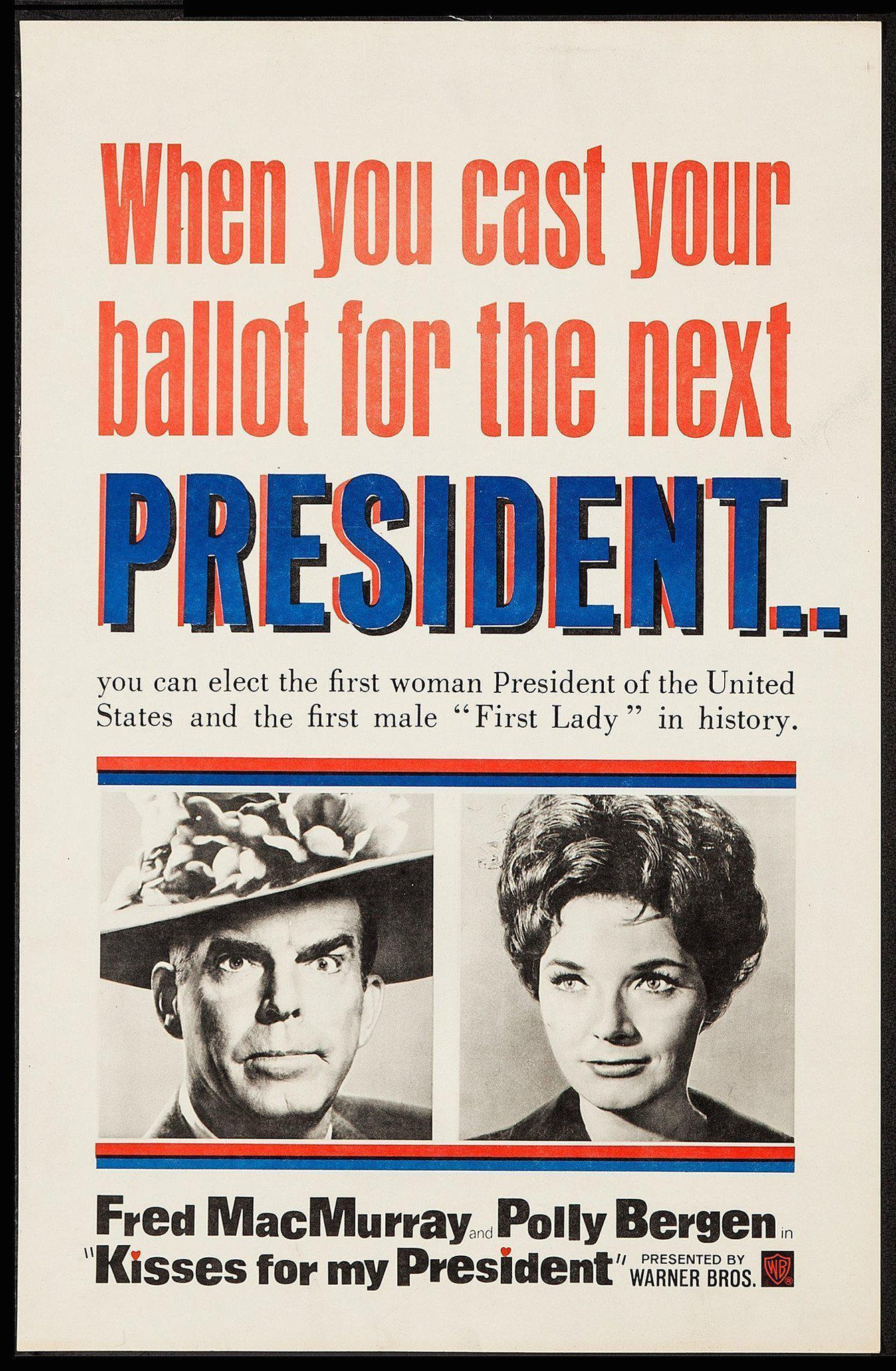 Kisses For My President 20x30 Original Vintage Movie Poster