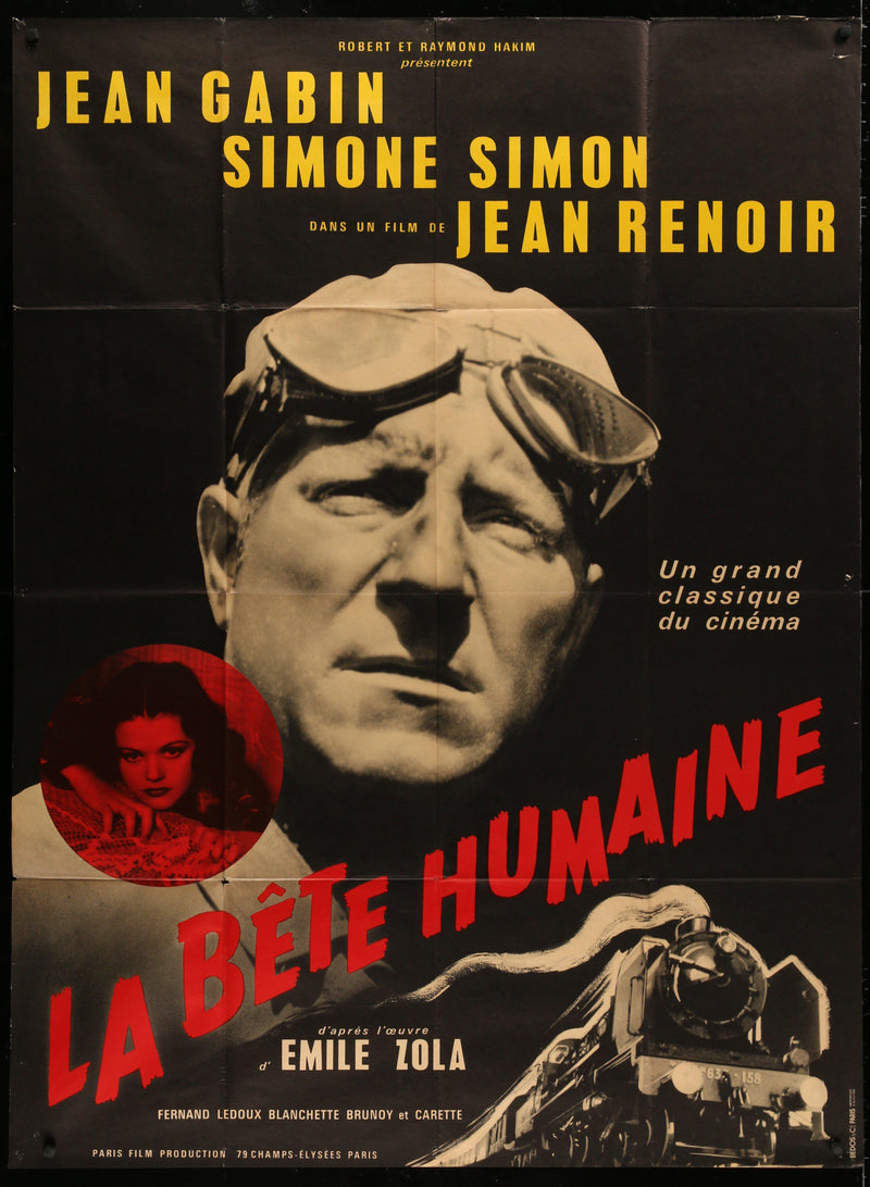 La Bete Humaine French 1 Panel (47x63) Original Vintage Movie Poster