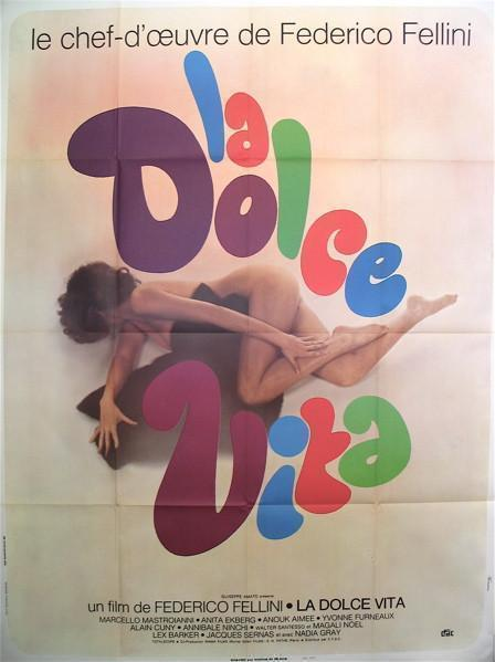 La Dolce Vita French 1 panel (47x63) Original Vintage Movie Poster