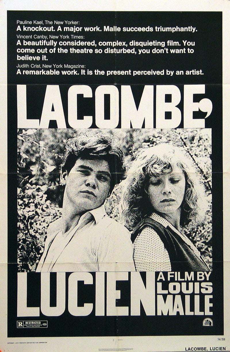 Lacombe, Lucien 1 Sheet (27x41) Original Vintage Movie Poster
