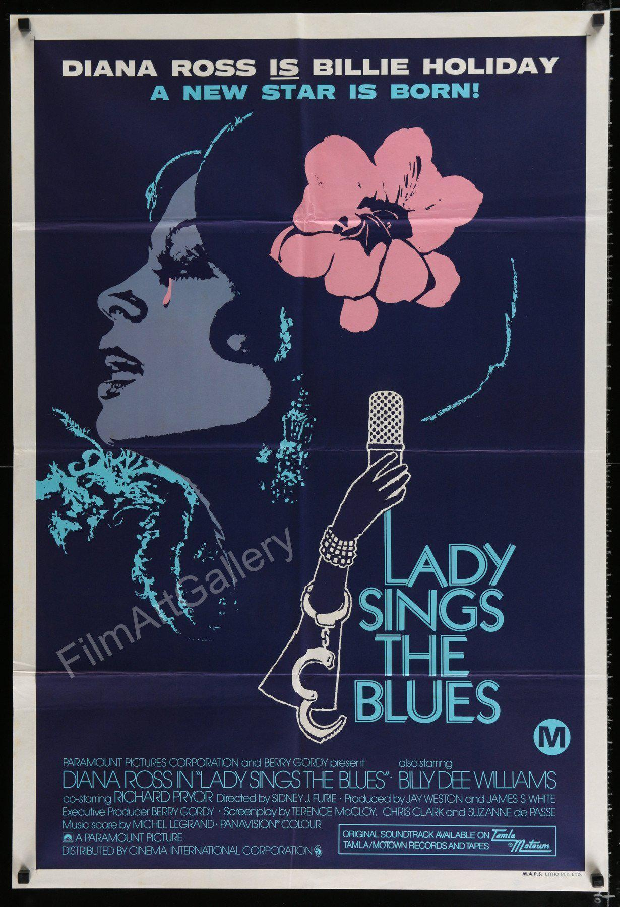 Lady Sings the Blues 1 Sheet (27x41) Original Vintage Movie Poster