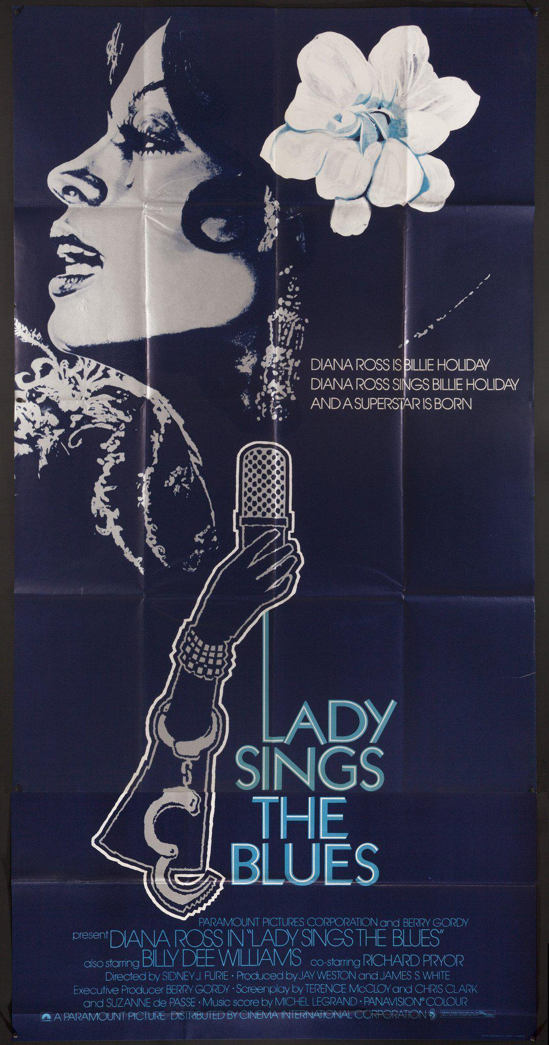 Lady Sings the Blues 3 Sheet (41x81) Original Vintage Movie Poster