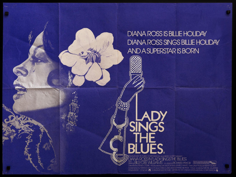 Lady Sings the Blues British Quad (30x40) Original Vintage Movie Poster