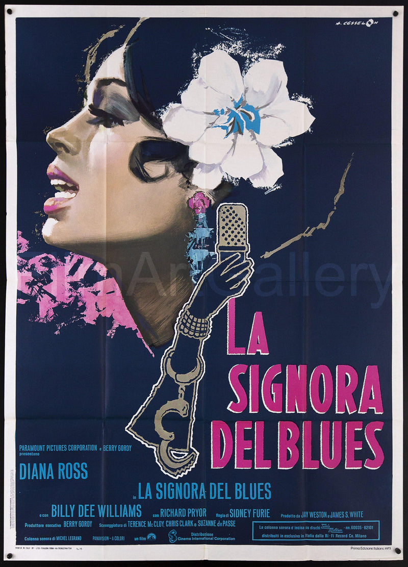 Lady Sings the Blues Italian 2 foglio (39x55) Original Vintage Movie Poster