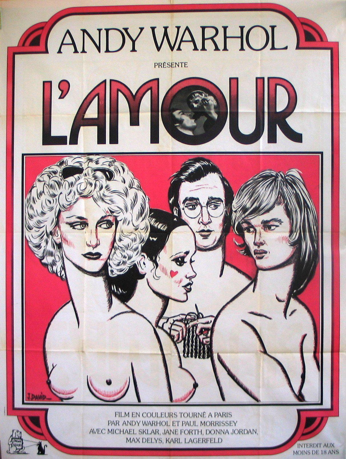 L'Amour (Andy Warhol) French 1 panel (47x63) Original Vintage Movie Poster