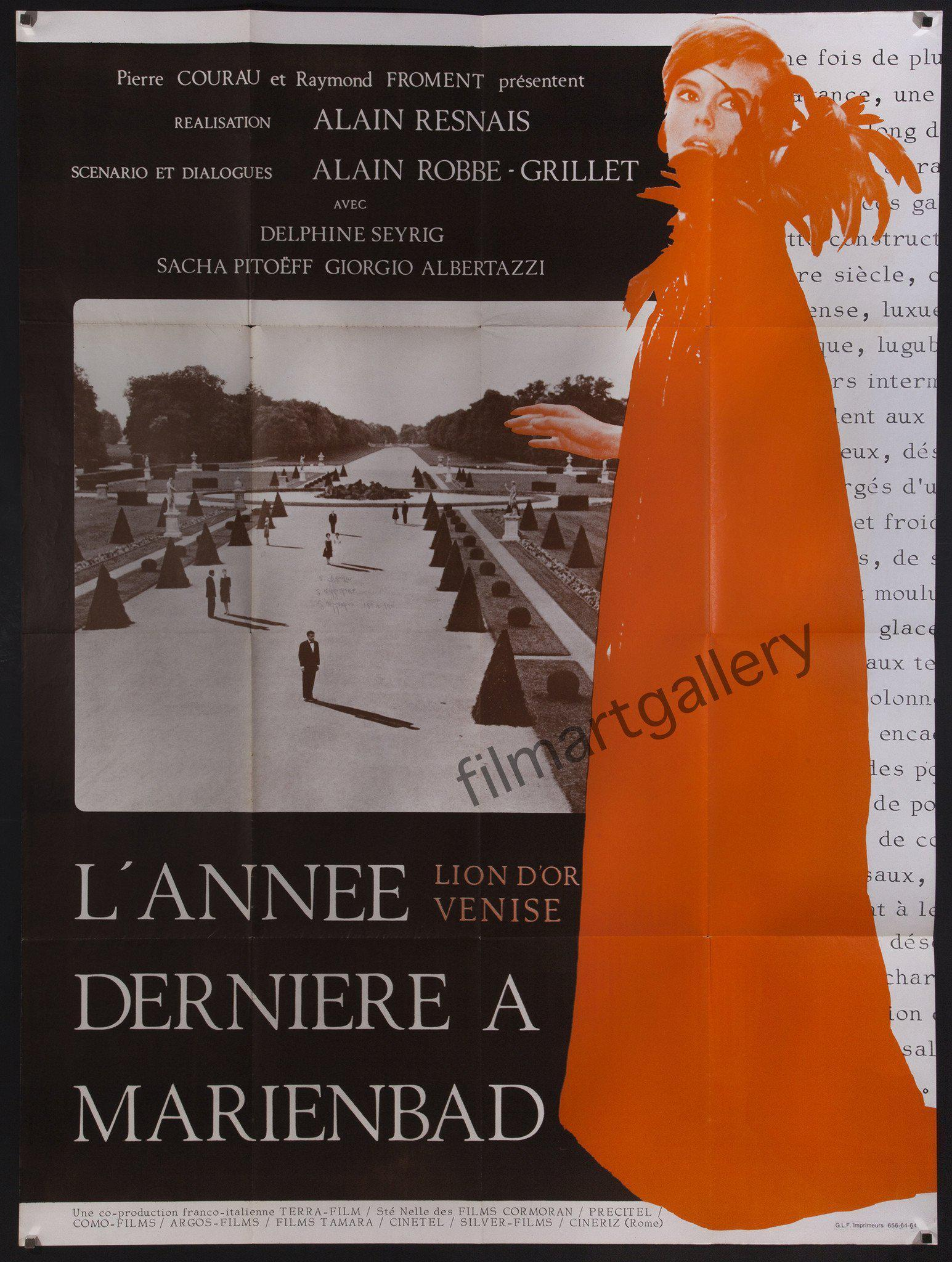 Last Year at Marienbad French 1 panel (47x63) Original Vintage Movie Poster