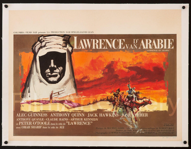 Lawrence of Arabia Belgian (14x22) Original Vintage Movie Poster