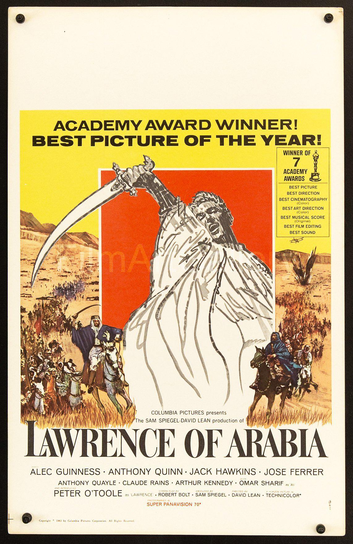 Lawrence of Arabia Window Card (14x22) Original Vintage Movie Poster