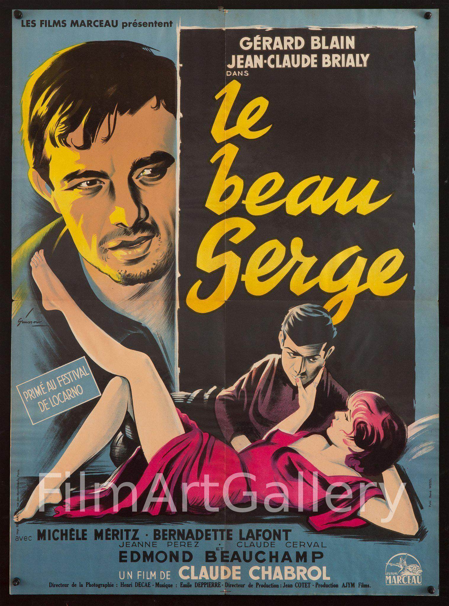 Le Beau Serge French Small (23x32) Original Vintage Movie Poster