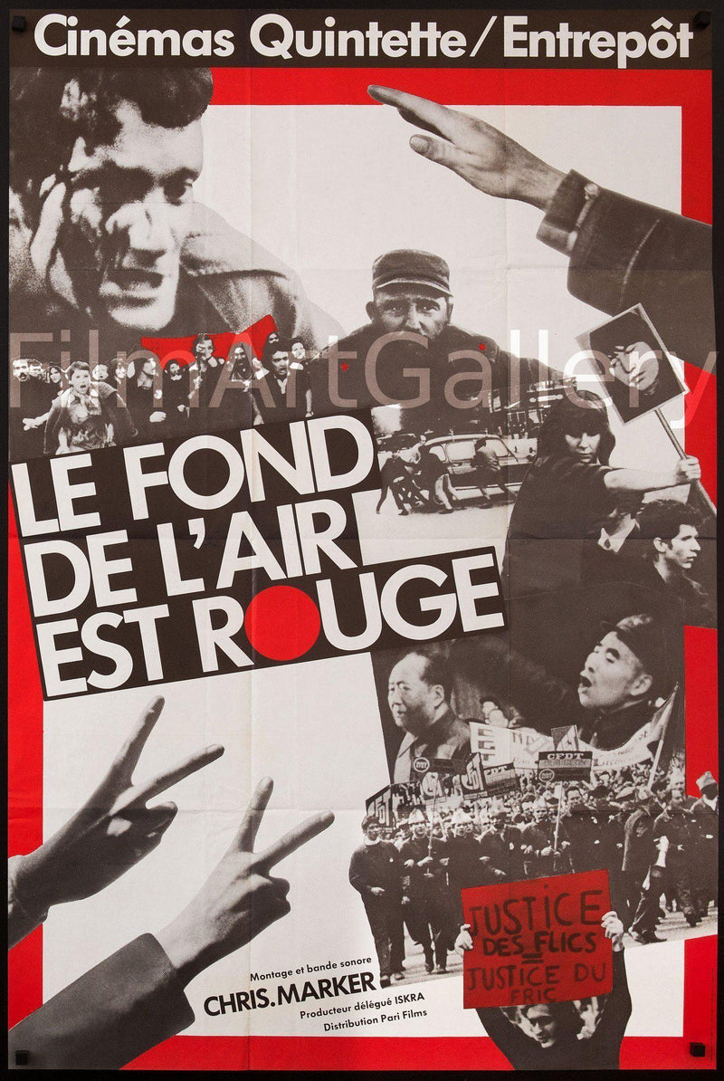 Le Fond De L'Air Est Rouge (Grin without a Cat) French Medium (31x47) Original Vintage Movie Poster