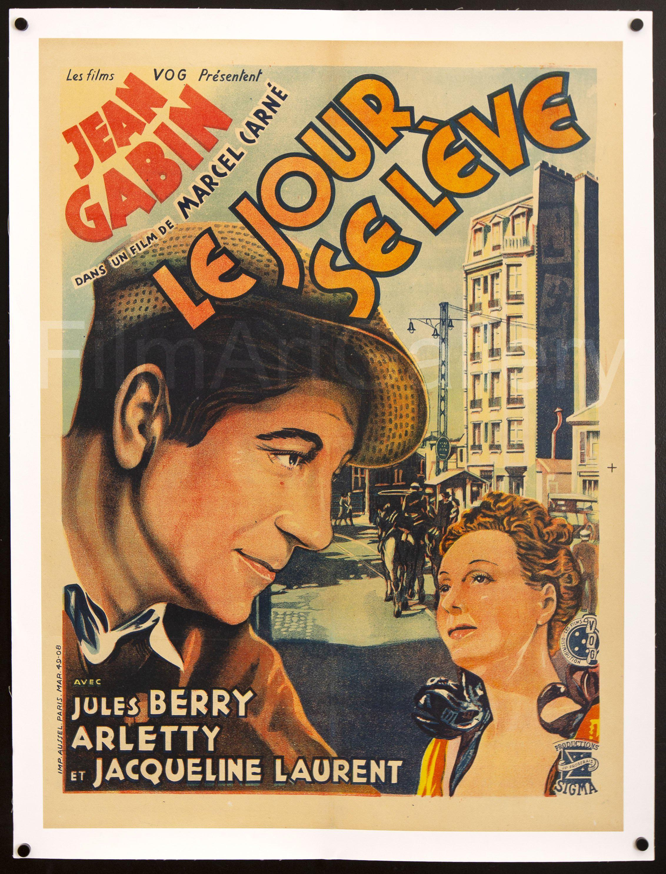 Le Jour Se Leve French small (23x32) Original Vintage Movie Poster