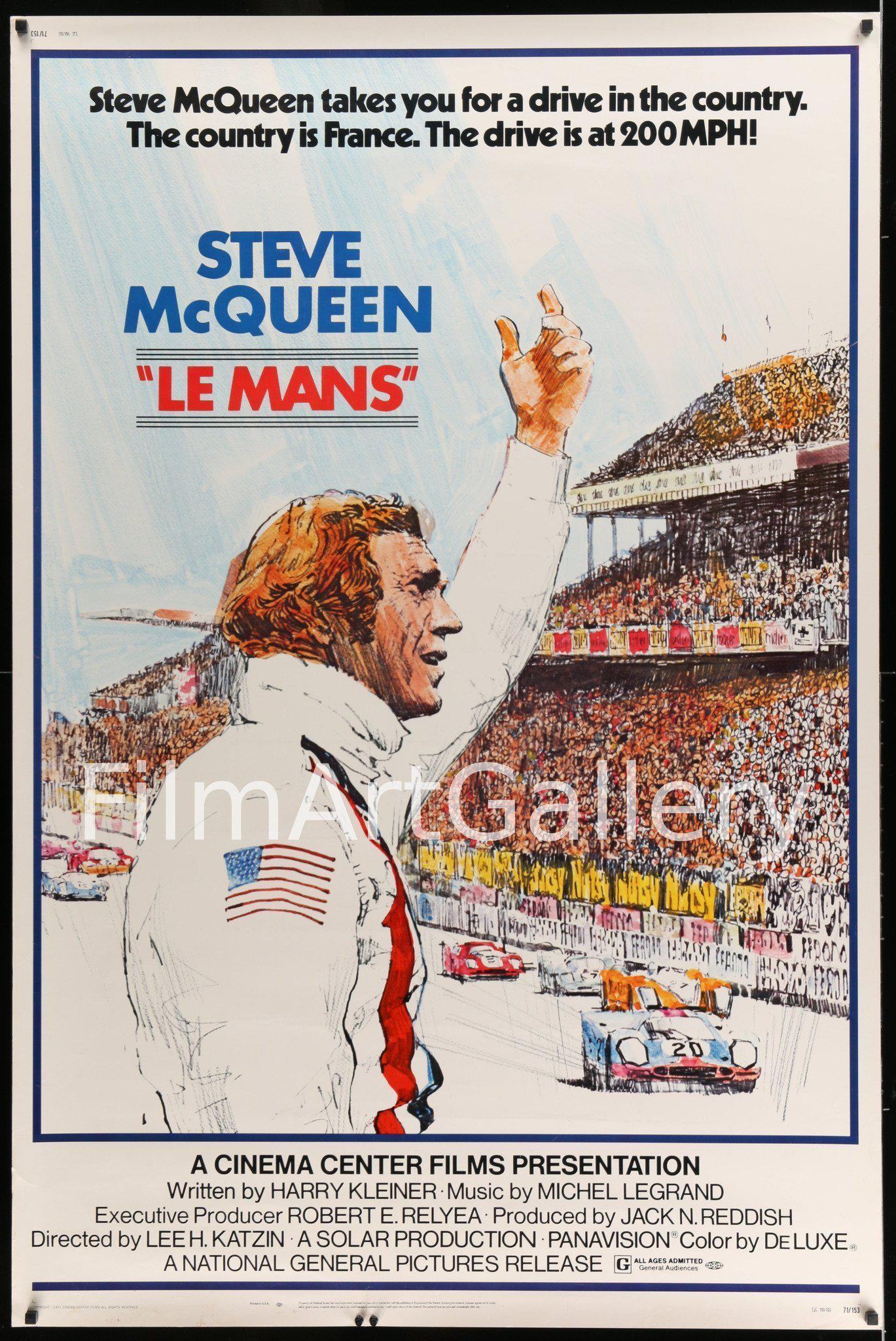 Le Mans 40x60 Original Vintage Movie Poster