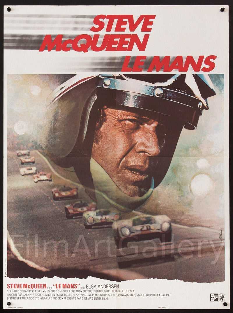 Le Mans French Small (23x32) Original Vintage Movie Poster