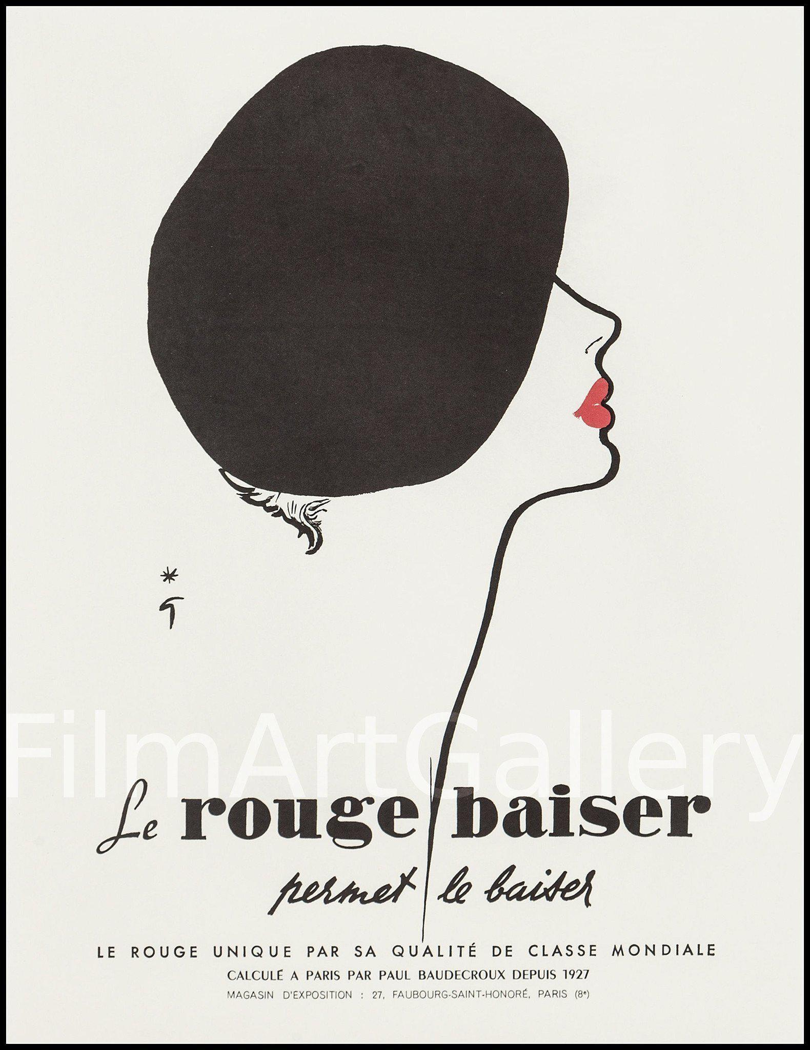 Le Rouge Baiser 17x22 Original Vintage Movie Poster