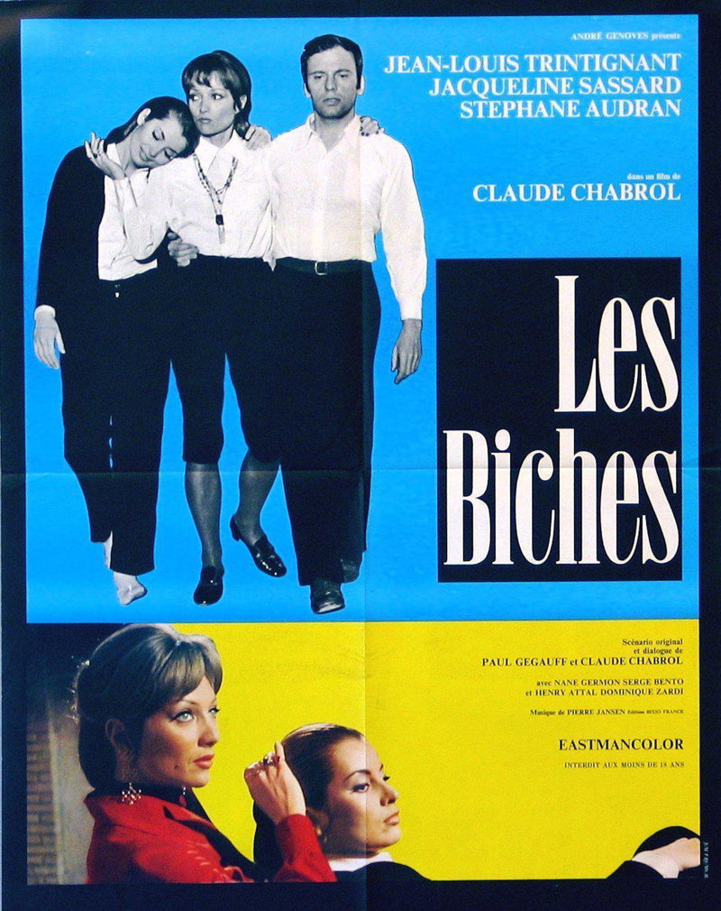 Les Biches French small (23x32) Original Vintage Movie Poster