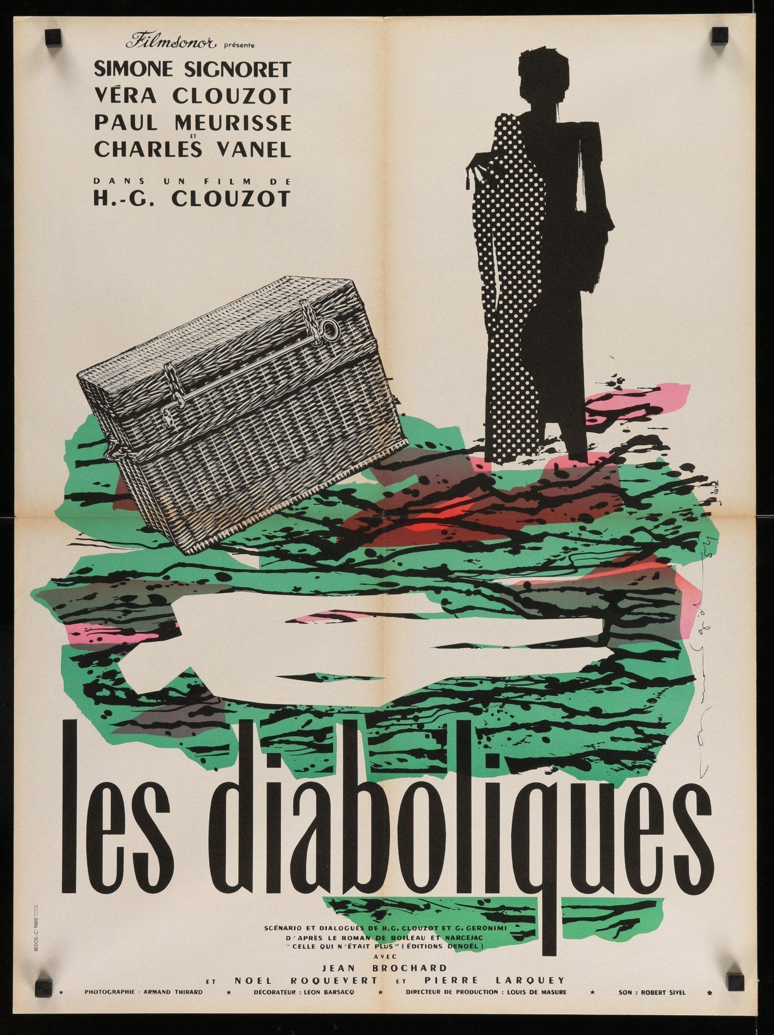 Les Diaboliques (Diabolique) French Small (23x32) Original Vintage Movie Poster