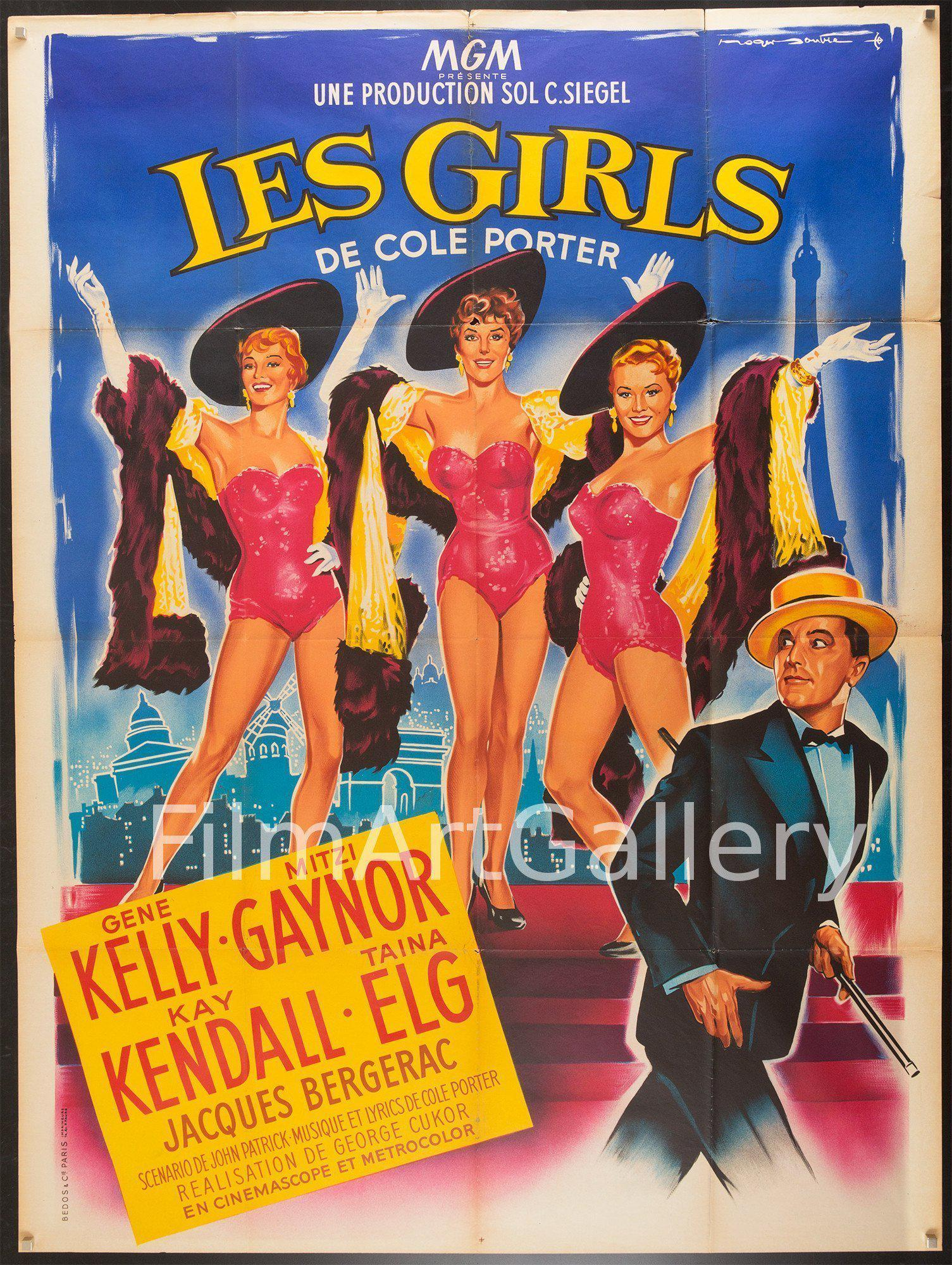 Les Girls French 1 panel (47x63) Original Vintage Movie Poster