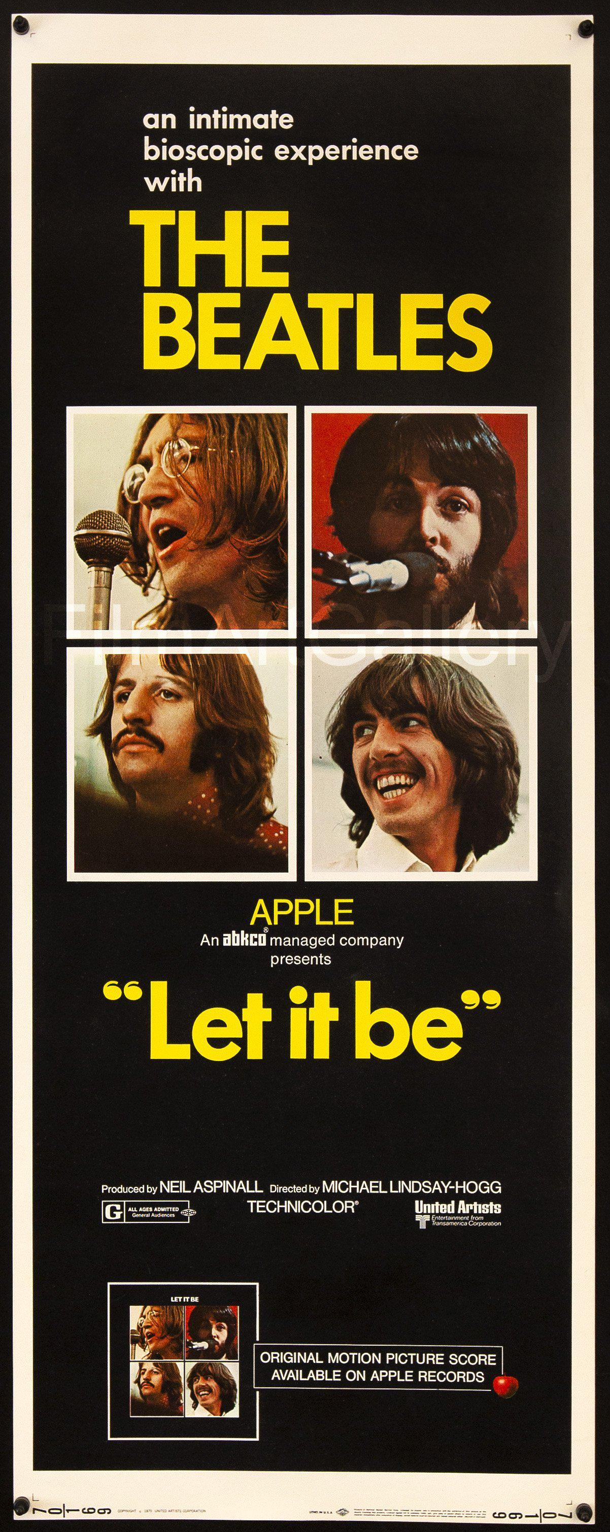 Let It Be Insert (14x36) Original Vintage Movie Poster