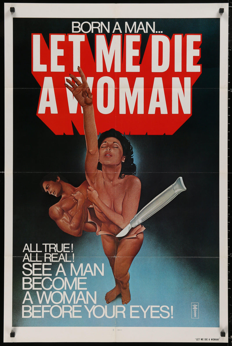 Let Me Die a Woman 1 Sheet (27x41) Original Vintage Movie Poster