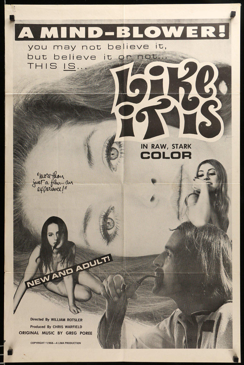 Like It Is 1 Sheet (27x41) Original Vintage Movie Poster