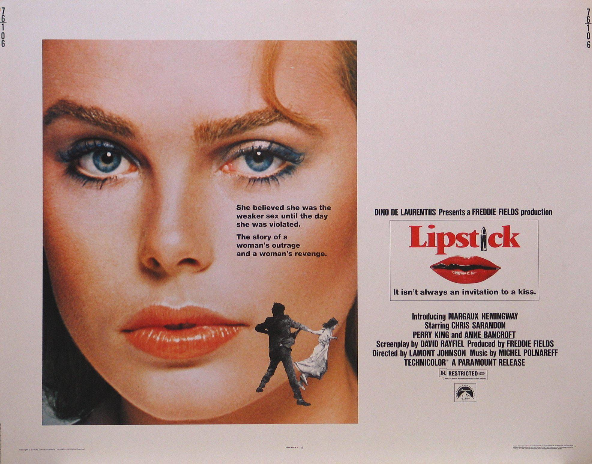 Lipstick Half sheet (22x28) Original Vintage Movie Poster