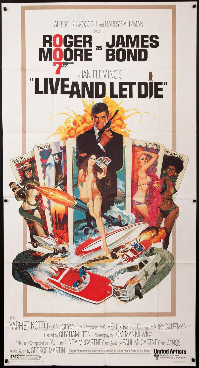 Live and Let Die 3 Sheet (41x81) Original Vintage Movie Poster