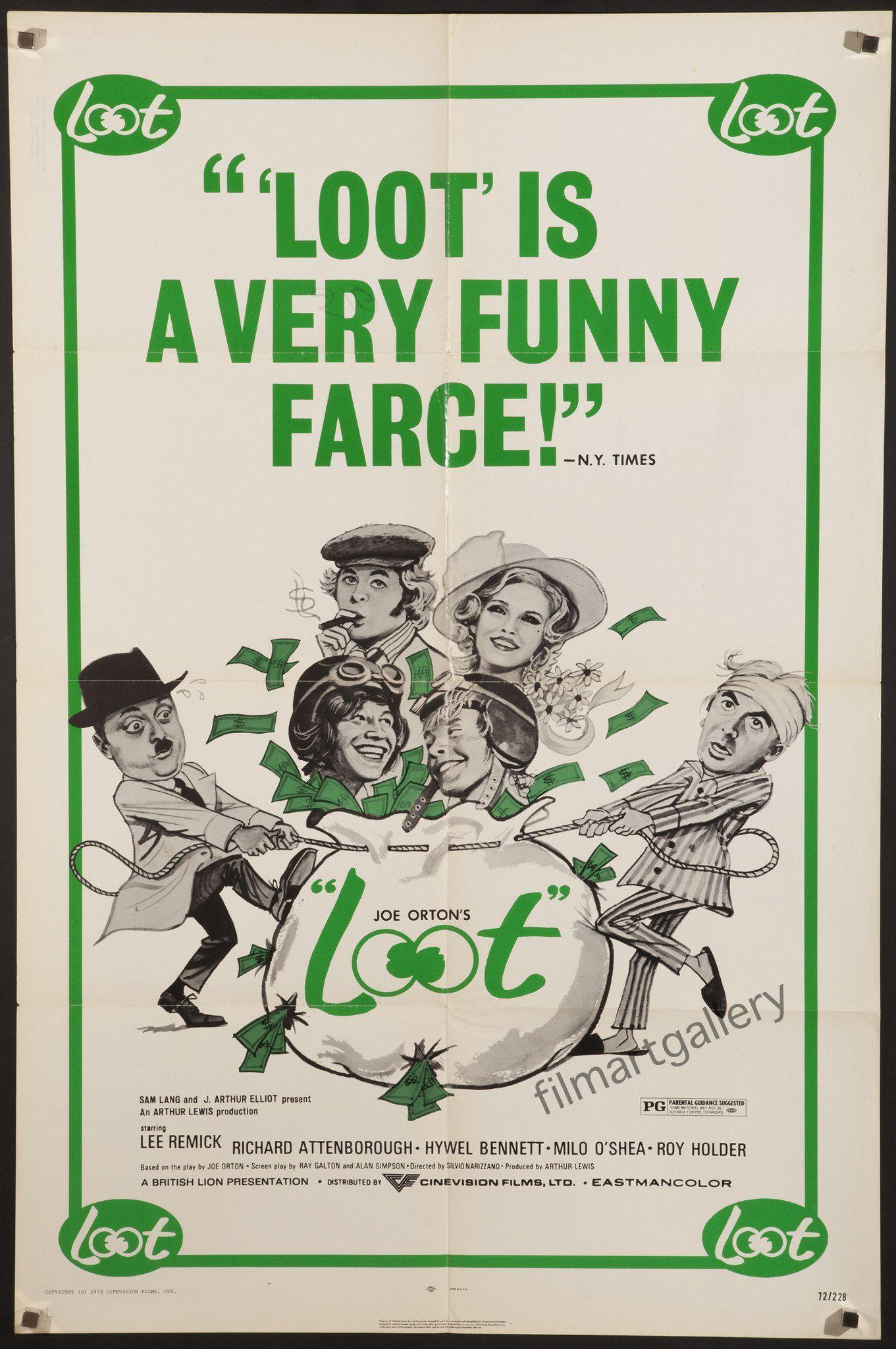 Loot 1 Sheet (27x41) Original Vintage Movie Poster