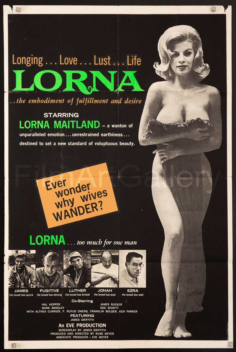 Lorna 1 Sheet (27x41) Original Vintage Movie Poster