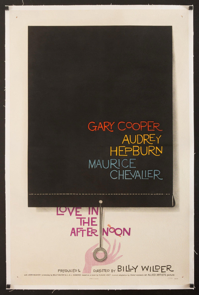 Love in the Afternoon 1 Sheet (27x41) Original Vintage Movie Poster