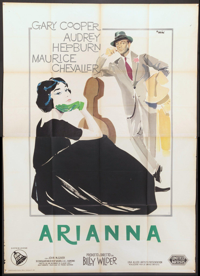 Love in the Afternoon Italian 4 foglio (55x78) Original Vintage Movie Poster