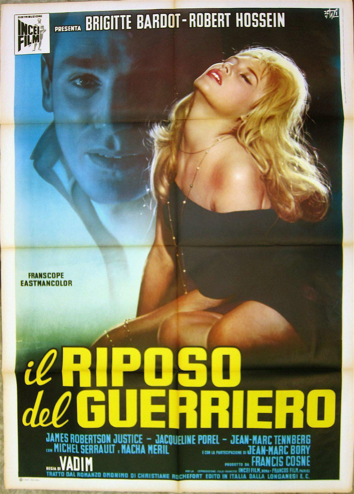 Love on a Pillow (Le Repos Du Guerrier) Italian 2 foglio (39x55) Original Vintage Movie Poster