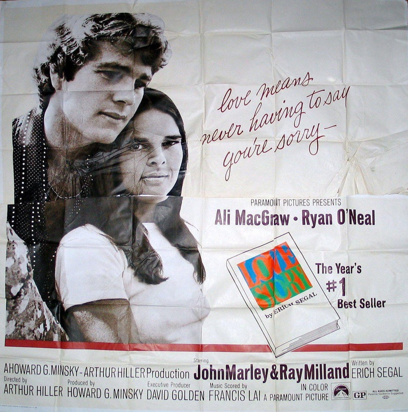 Love Story 6 Sheet (81x81) Original Vintage Movie Poster