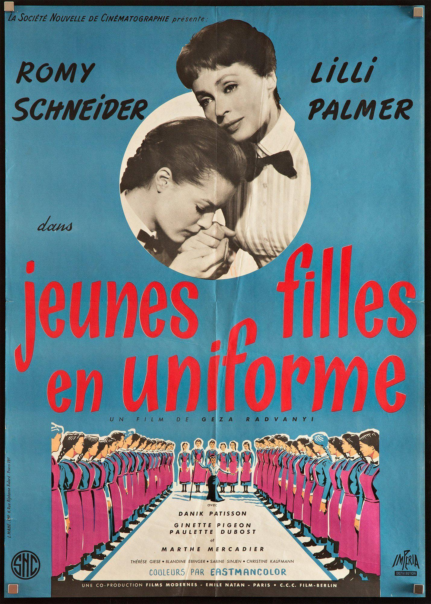 Madchen in Uniform French small (23x32) Original Vintage Movie Poster