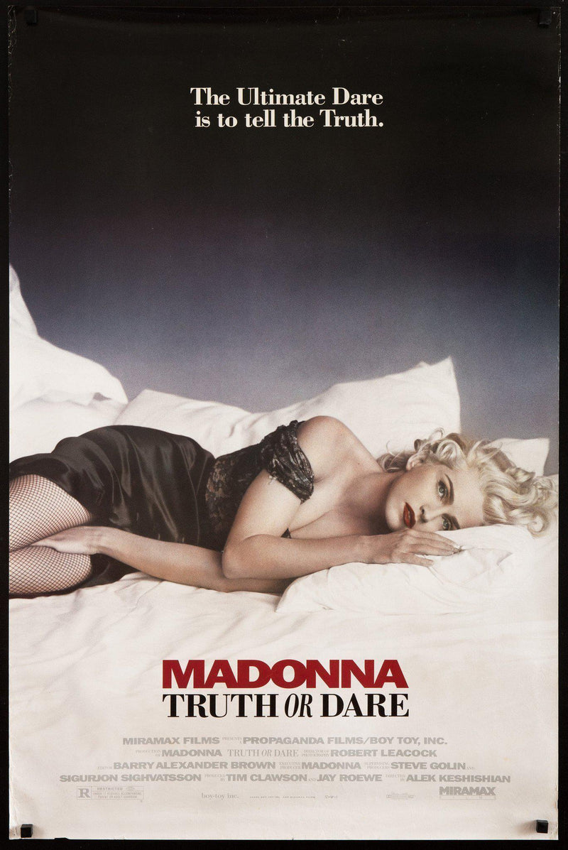 Madonna Truth Or Dare 1 Sheet (27x41) Original Vintage Movie Poster