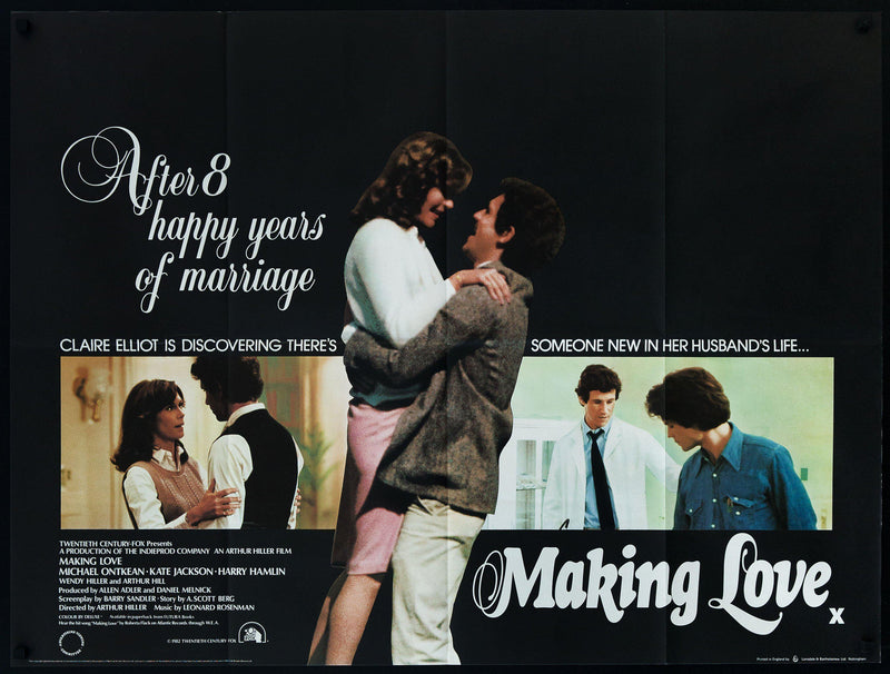 Making Love British Quad (30x40) Original Vintage Movie Poster