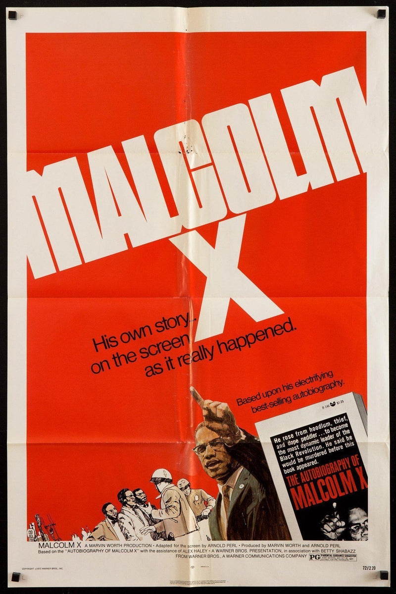 Malcolm X 1 Sheet (27x41) Original Vintage Movie Poster