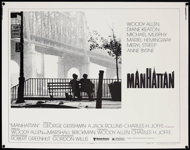 Manhattan Half sheet (22x28) Original Vintage Movie Poster