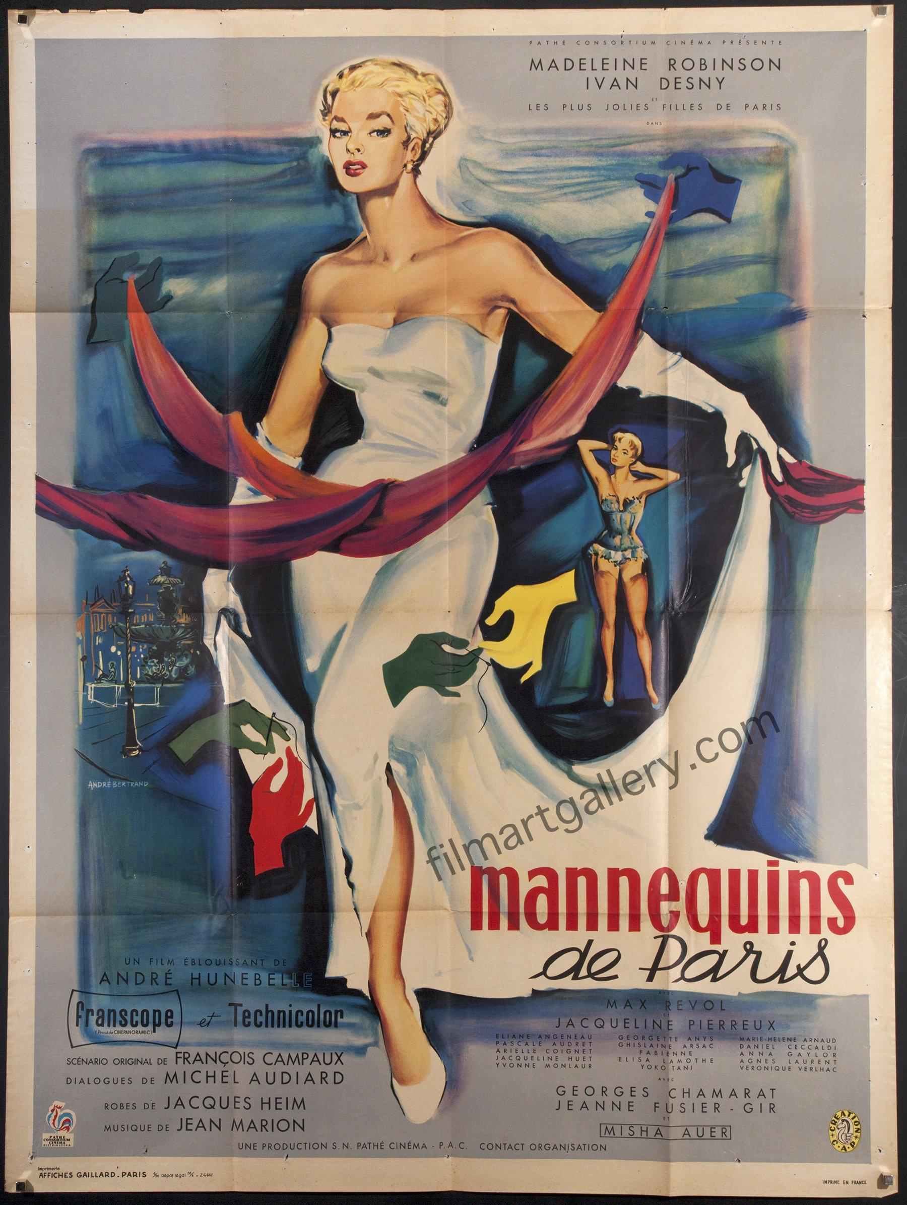 Mannequins of Paris French 1 panel (47x63) Original Vintage Movie Poster