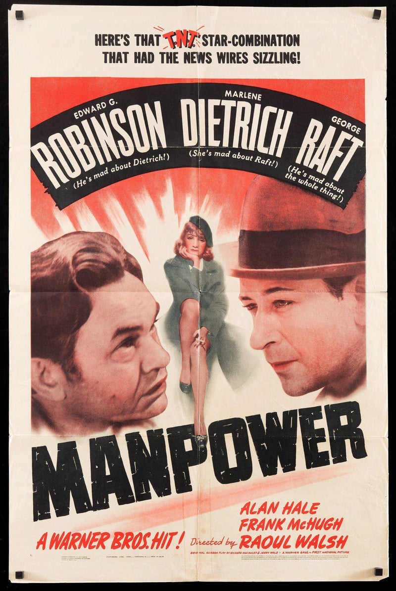 Manpower 1 Sheet (27x41) Original Vintage Movie Poster