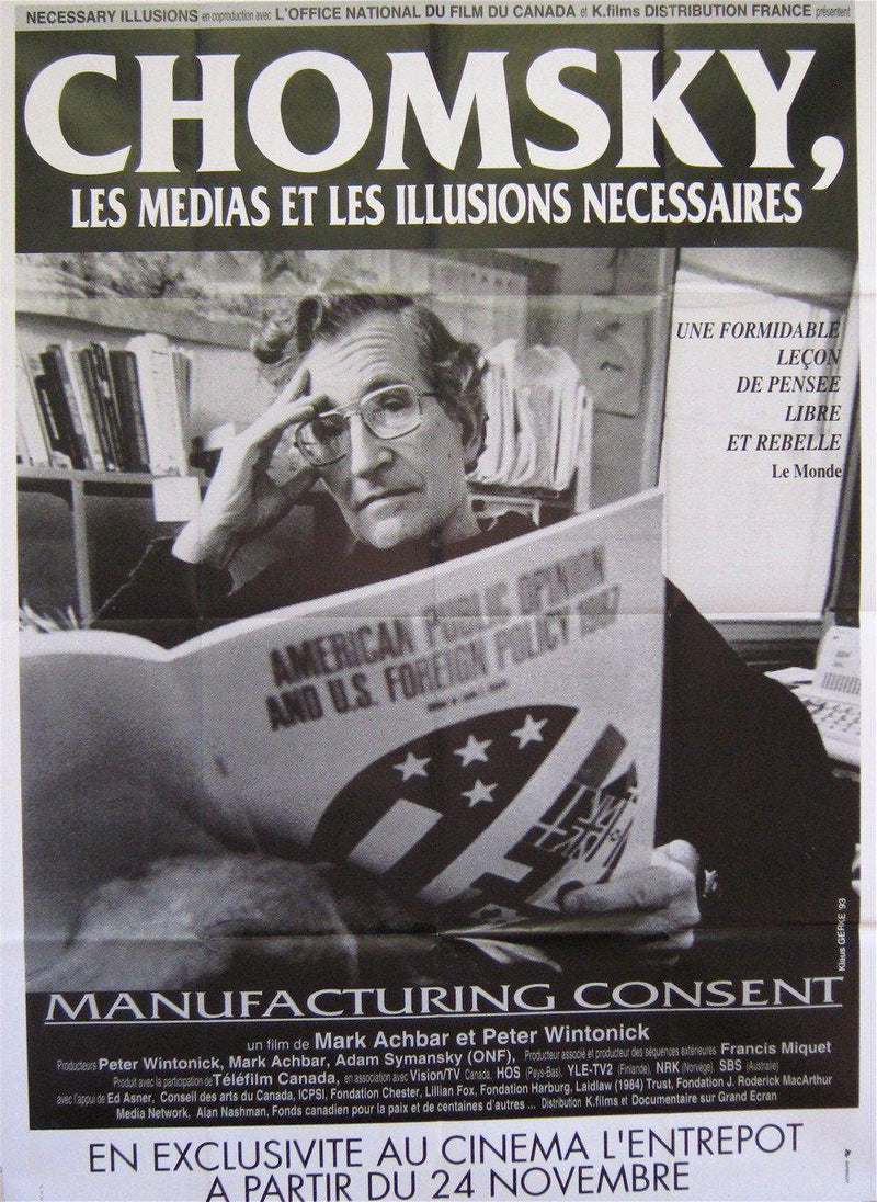 Manufacturing Consent French 1 panel (47x63) Original Vintage Movie Poster