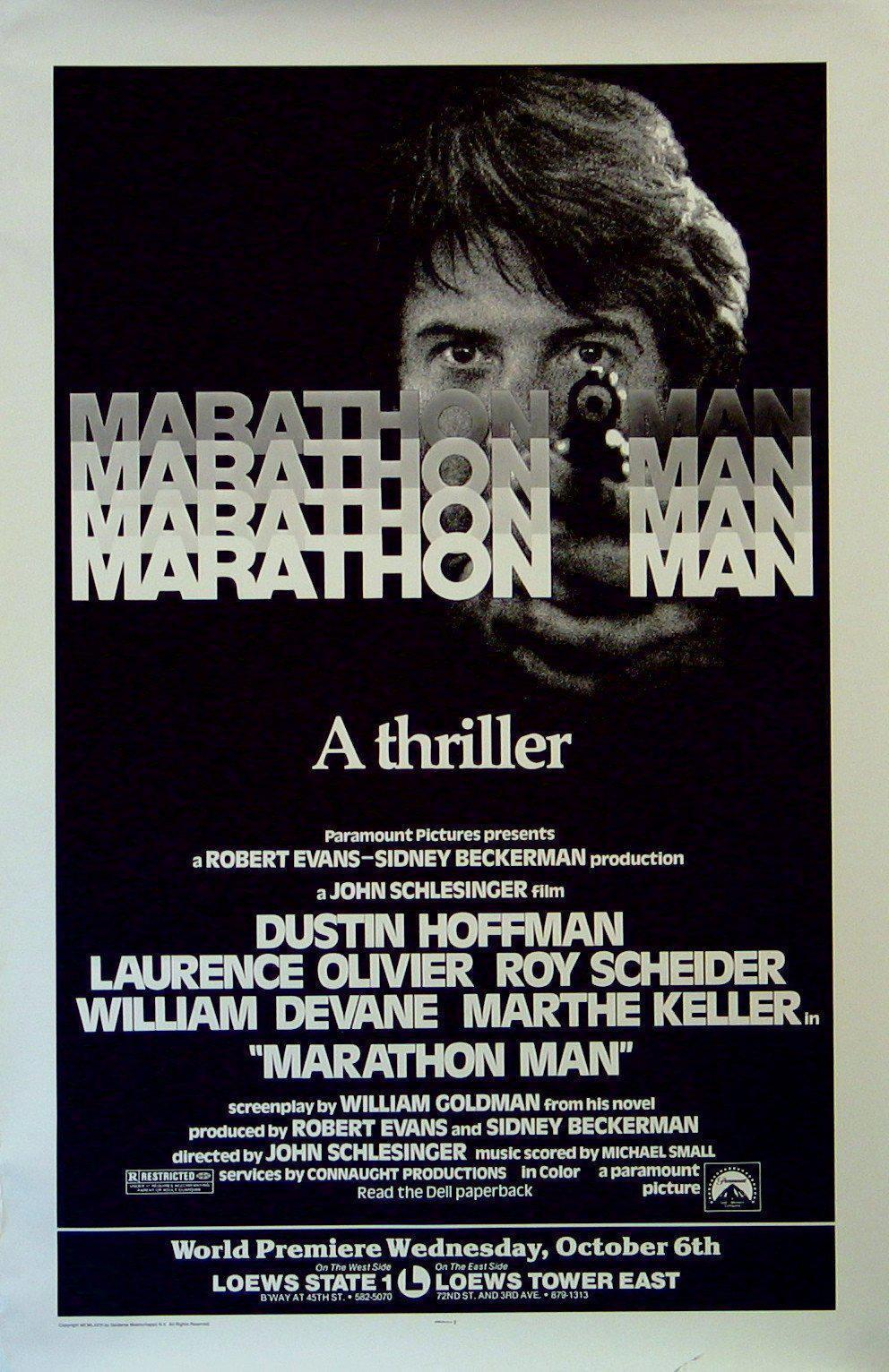 Marathon Man Subway 1 sheet (29x45) Original Vintage Movie Poster