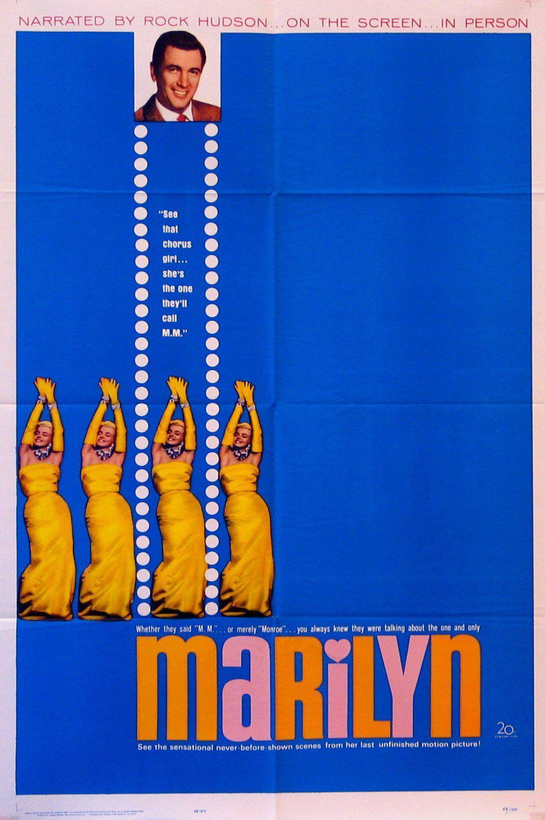 Marilyn 1 Sheet (27x41) Original Vintage Movie Poster