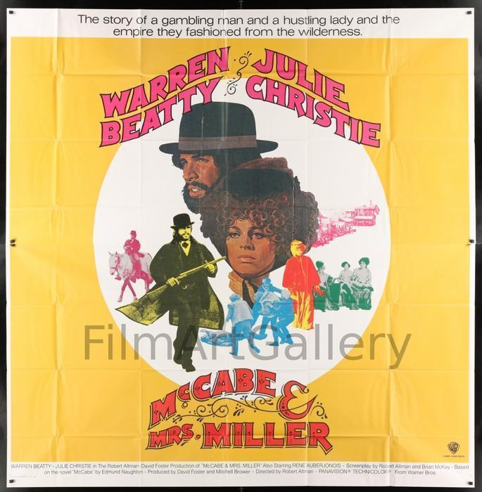 McCabe & Mrs. Miller 6 Sheet (81x81) Original Vintage Movie Poster