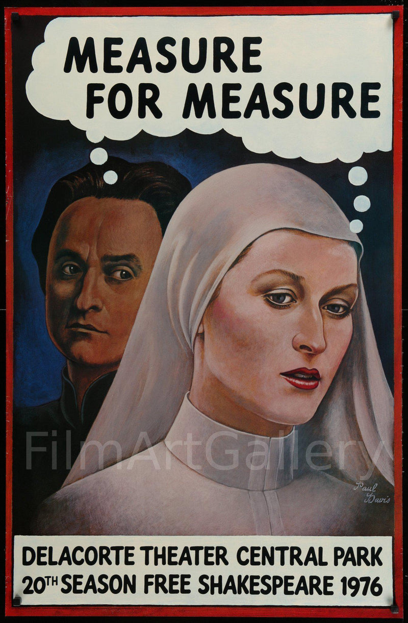 Measure For Measure 30x46 Original Vintage Movie Poster