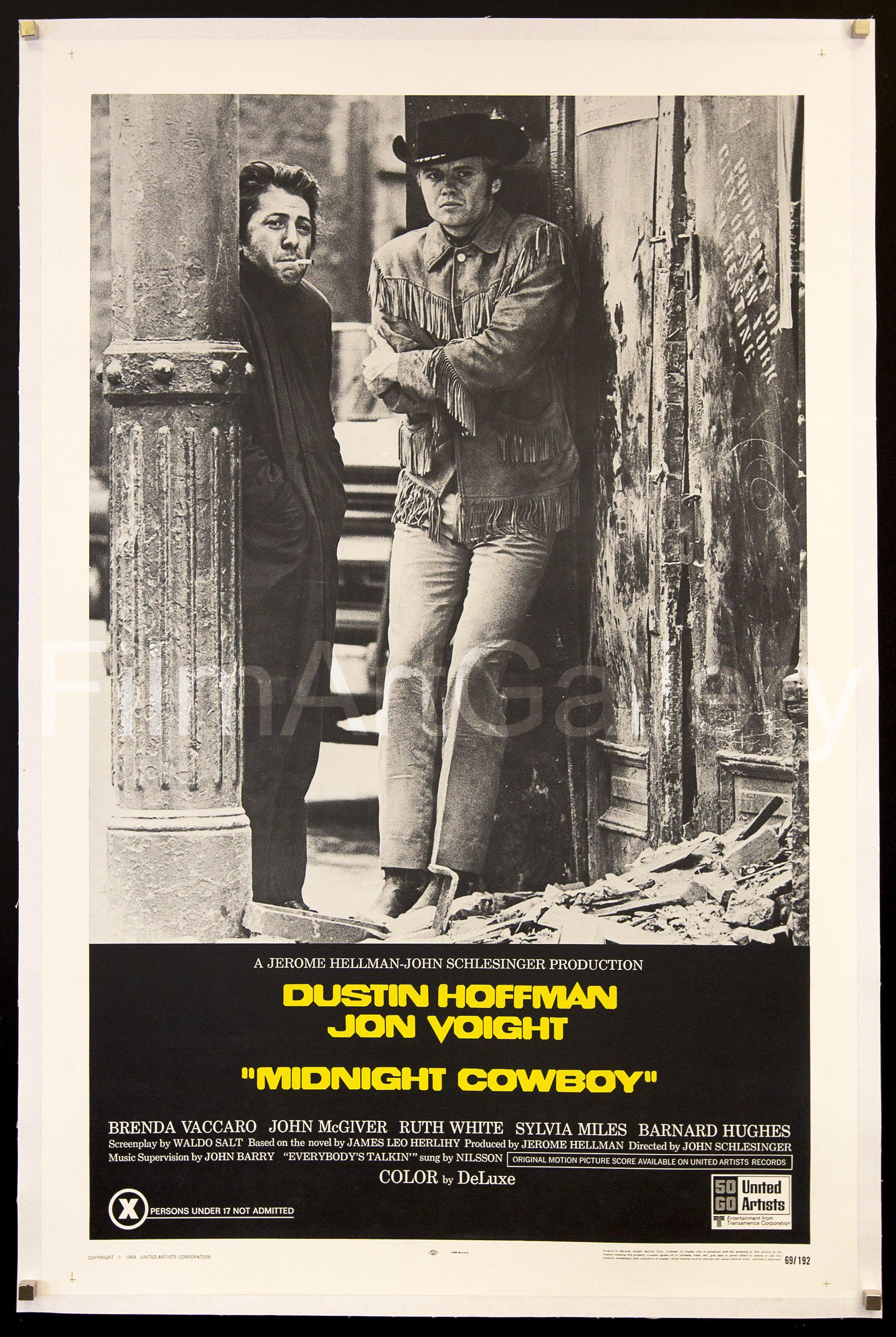 Midnight Cowboy 1 Sheet (27x41) Original Vintage Movie Poster