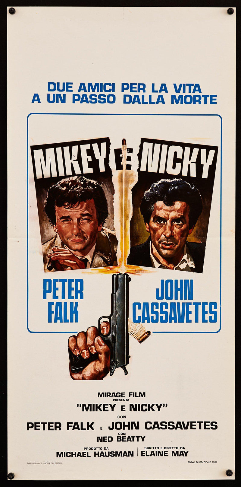 Mikey and Nicky Italian Locandina (13x28) Original Vintage Movie Poster