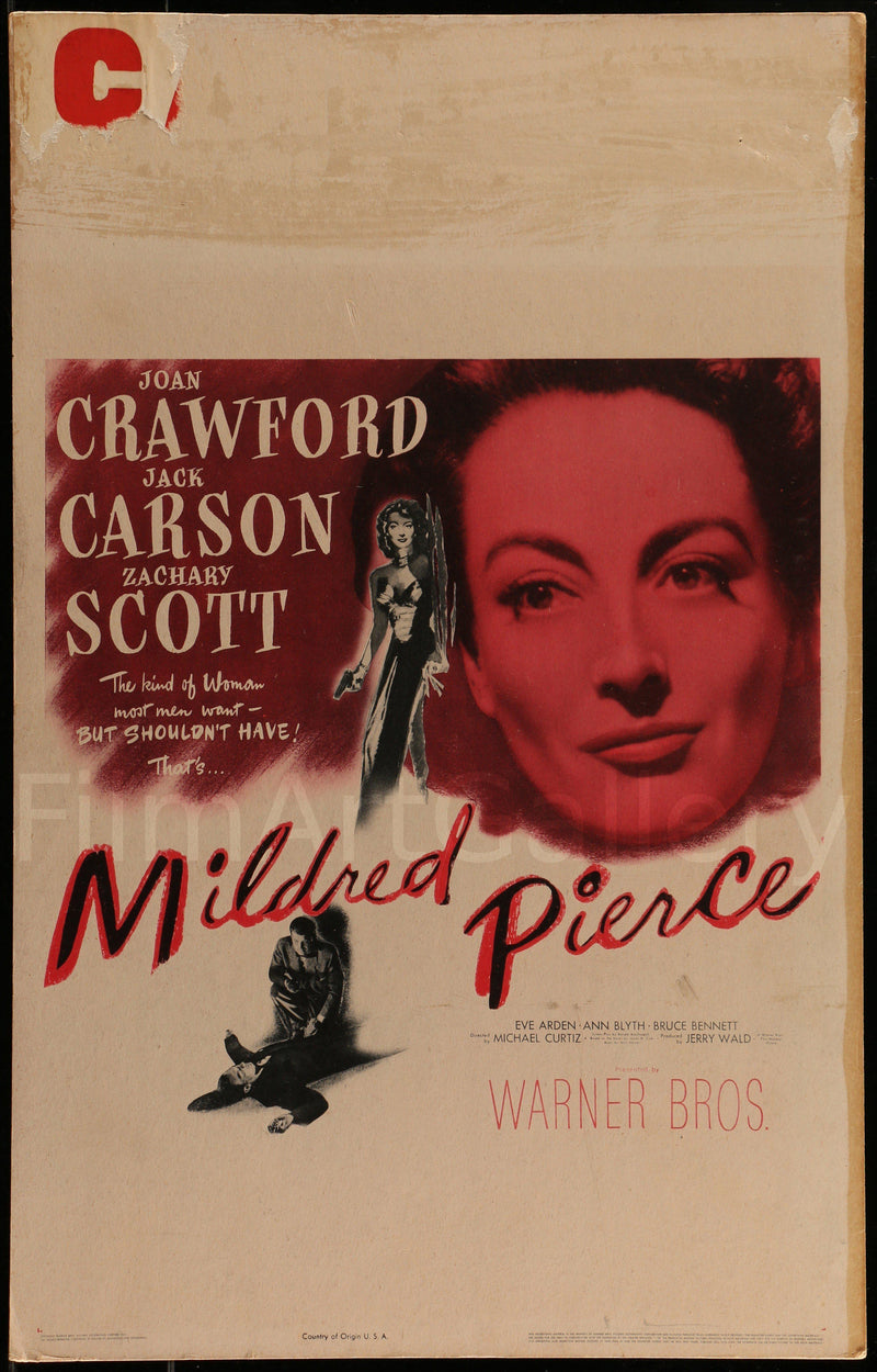 Mildred Pierce Window Card (14x22) Original Vintage Movie Poster