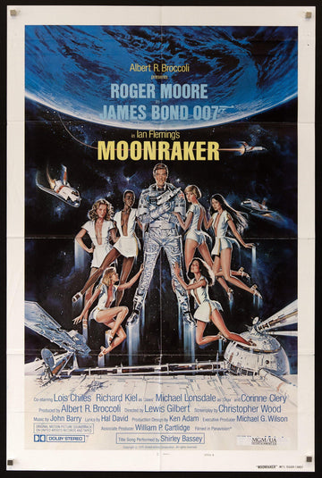 Moonraker Movie Poster 1 Sheet 27x41 Original Vintage Movie Poster 7910